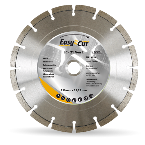 Deimantinis diskas Cedima Gen 2 EC-21 350×25,4 (armuotas betonas)